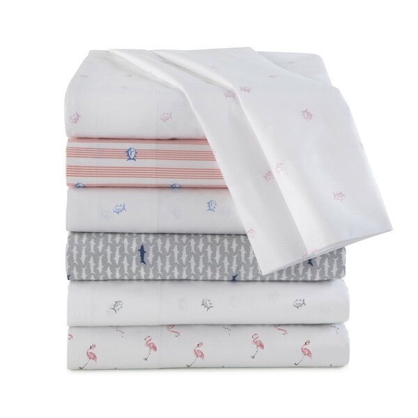 Flamingo 200 Thread Count 100% Cotton Sheet Set by Southern Tide